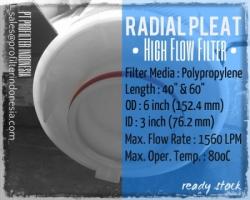 Radial Pleat High Flow PFI Filter Cartridge Indonesia  large